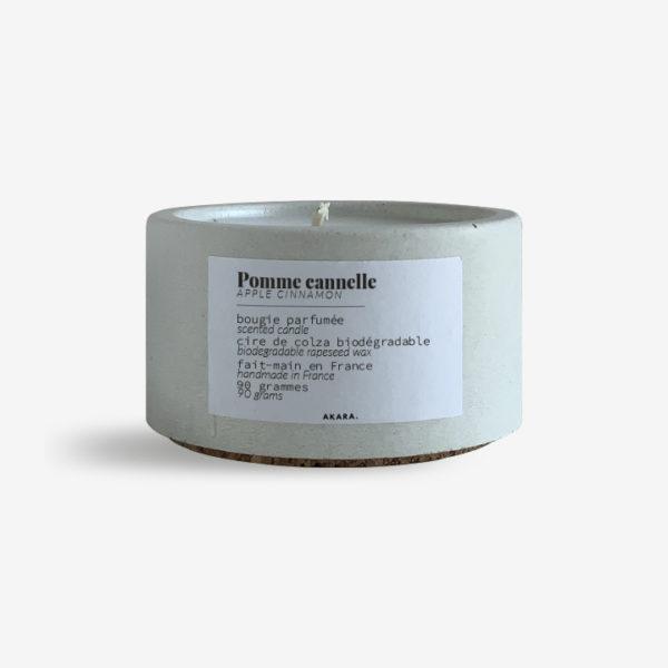 Bougie parfumée en béton - Pomme cannelle - 90 grammes